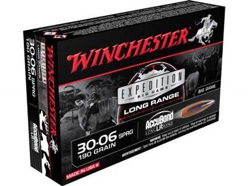 Winchester 30-06 Ammunition Expedition Long Range S3006LR 190 Grain Nosler Accubond LR 20 rounds