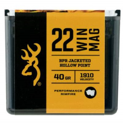Browning 22 WMR Performance Rimfire B195122050 40 Grain BPR Jacketed Hollow Point 50 rounds