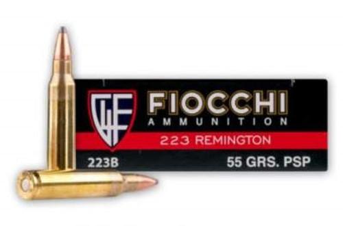 Fiocchi 223 Remington Ammunition FI223B 55 Grain Pointed Soft Point 20 rounds