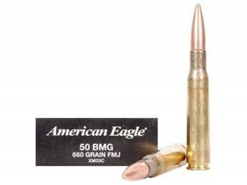 Federal 50 BMG XM33C 660 Grain Full Metal Jacket 10 rounds