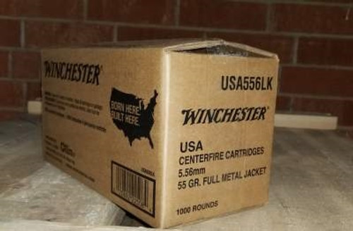 Winchester 5.56mm Ammunition Value Pack USA556LK 55 Grain Full Metal Jacket 1000 rounds