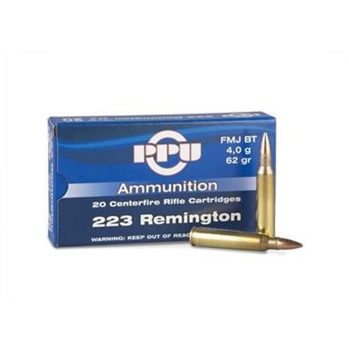 Prvi PPU 223 Rem Ammunition PP55 62 Grain Full Metal Jacket 20 Rounds