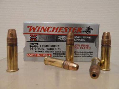 Winchester 22LR Super-X 36gr CPHP, 22LR500HP, 500 rounds