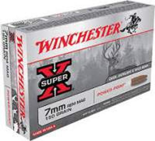 Winchester 7mm Rem Mag Ammunition Super-X X7MMR1 150 Grain Power Point 20 Rounds