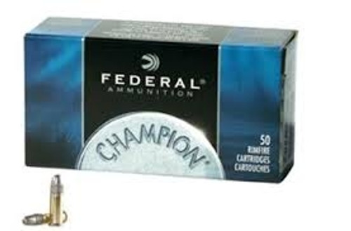 Federal 22LR Ammunition Champion 510 40 Grain Solid Lead Round Nose 50 Rounds