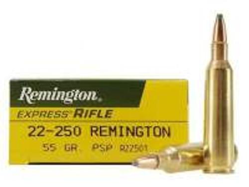 Remington 22-250 R22501 55 gr PSP 20 rounds