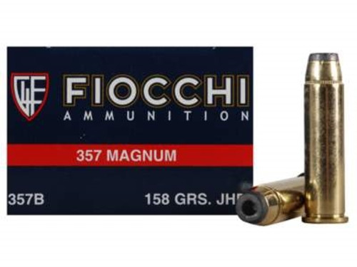 Fiocchi 357 Magnum Ammunition FI357B 158 Grain Jacketed Hollow Point 50 rounds