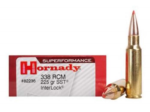 Hornady 338 RCM Ammunition Superformance H82236 225 Grain SST 20 rounds