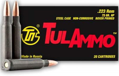 Tula 223 Remington Ammunition 75 Grain Hollow Point 20 Rounds