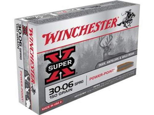 Winchester 30-06 Super-X X30061 150 gr Power-Point 20 rounds