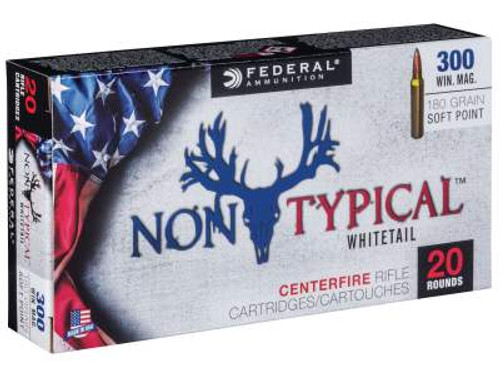 Federal 300 Win Mag Ammunition Non-Typical F300WDT180 180 Grain Soft Point 20 rounds