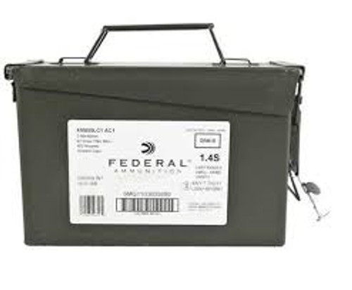 Federal 5.56 x 45mm NATO XM855 62 Grain Steel Core Full Metal Jacket Ammo Can 420 rounds