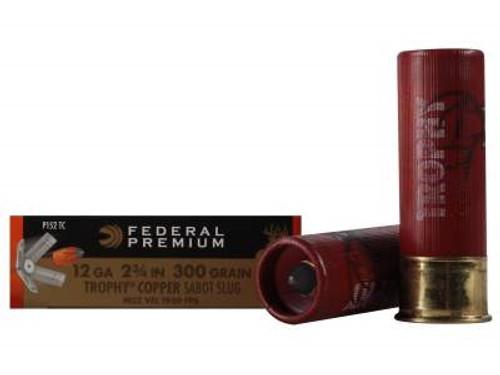 "Federal 12 Gauge Ammunition Vital-Shok P152TC 2-3/4"" 300 Grain Trophy Copper Sabot Slug 1900fps 5 rounds"