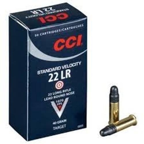 CCI 22LR Ammunition 0035 40 Grain 1070fps Standard Velocity Case of 5000 Rounds