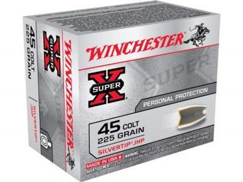 Winchester 45 Colt Super-X X45CSHP2 225 gr Silvertip HP 20 rounds