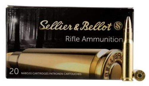 Sellier & Bellot Ammunition 308 Winchester 180 Grain SPCE Soft Point SB308F 20 Rounds