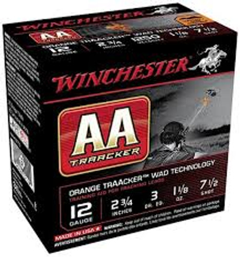"Winchester 12 Gauge AA Ammunition Heavy TrAAcker Orange AAHA127TO 2-3/4"" 1-1/8oz 7-1/2 Shot 1250FPS 250 rounds"