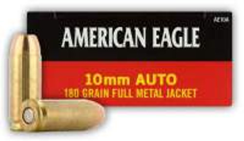 Federal 10mm American Eagle Ammunition AE10A 180 Grain Full Metal Jacket 50 rounds