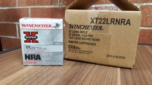 Winchester 22LR Ammunition NRA Foundation XT22LRNRA 40 Grain Lead Round Nose 500 rounds