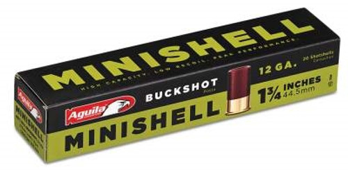 "Aguila Minishell Ammunition 12 Gauge 1-3/4"" #4 and #1 Buckshot 11 Pellets 1200fps 20 rounds"