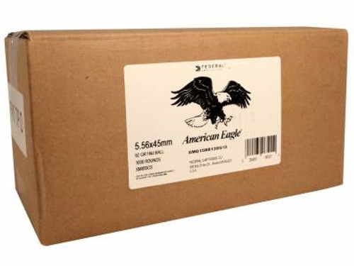 Federal 5.56 x 45mm NATO XM855 62gr Steel Core FMJ 1,000 rounds