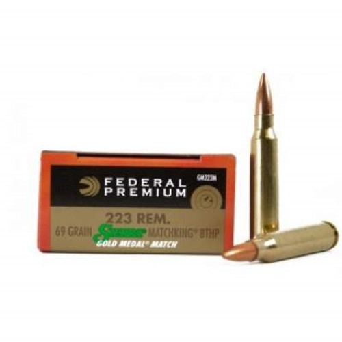 Federal 223 Rem Gold Medal GM223M 69 gr Sierra Matchking BTHP Match 20 rounds