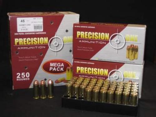 Precision One 45 Colt Ammunition Cowboy Action 255 Grain Full Metal Jacket 50 rounds