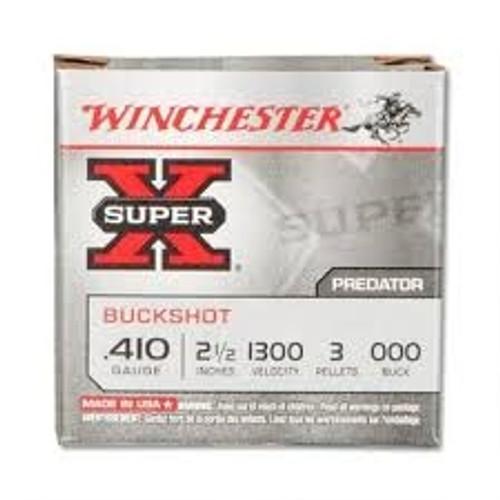 """Winchester 410 Bore Super-X XB41000 2-1/2"""" 000 Buckshot 3 Pellets 1135fps 5 rounds"""