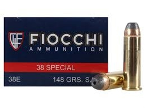 Fiocchi 38 Special Shooting Dynamics Ammunition FI38D 148 Grain Semi-Jacketed Hollow Point 50 Rounds