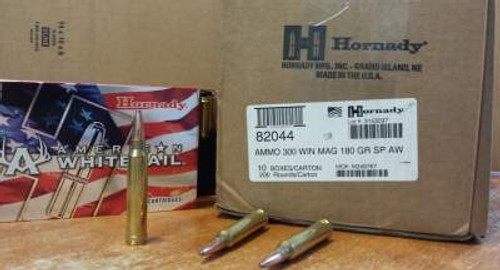 Hornady 300 Win Mag American Whitetail H82044 180 gr SP 20 rounds