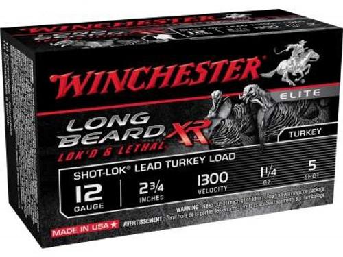 "Winchester 12 Gauge Ammunition Long Beard XR Turkey STLB125 2-3/4"" 1-1/4oz #5 1300fps Copper Plated Shot 10 rounds"