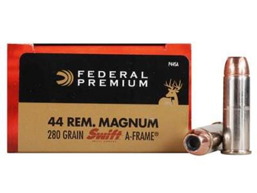 Federal 44 Magnum Ammunition P44SA 280 Grain Swift A-Frame Hollow Point 20 rounds