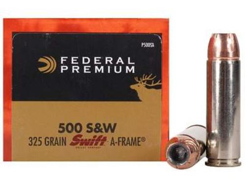 Federal 500 S&W Magnum Ammunition P500SA 325 Grain Swift A-Frame Hollow Point 20 rounds
