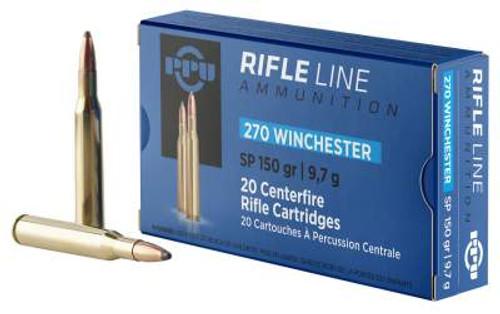 Prvi PPU Standard Rifle 270 Win Ammunition PP2702 150 Grain Soft Point 20 Rounds