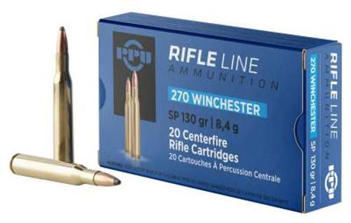 Prvi PPU Standard Rifle 270 Win Ammunition PP2701 130 Grain Soft Point 20 Rounds