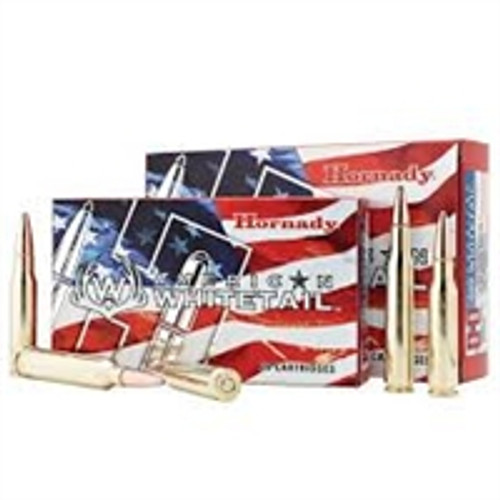 Hornady 300 WSM Ammunition American Whitetail 82204 165 Grain Semi Jacketed Soft Point 20 Rounds