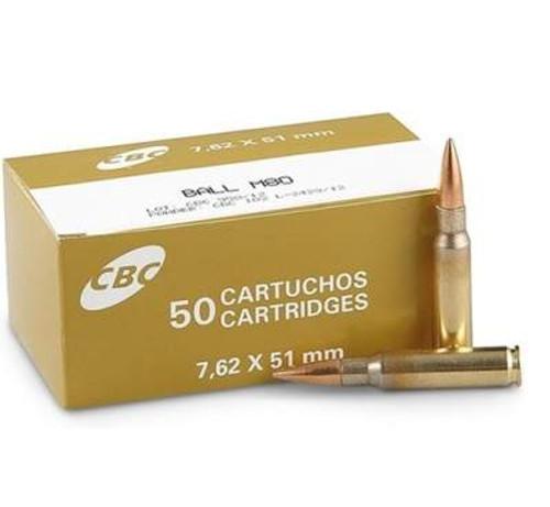 Magtech 7.62x51mm (308 Win) Ammunition M80 Ball 762A 147 Grain Full Metal Jacket 50 Rounds