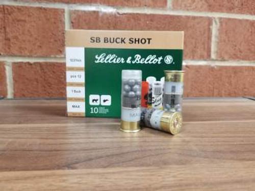 "Sellier & Bellot 12 Gauge Ammunition SB12BSI 2-3/4"" 1 Buckshot 12 Pellets 1213fps 250 rounds"