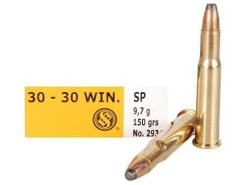 Sellier & Bellot 30-30 Win Ammunition SB3030A 150 Grain Soft Point Case of 500 Rounds