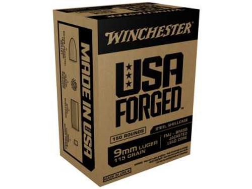 Winchester 9mm Ammunition USA Forged WIN9S 115 Grain Full Metal Jacket Case of 750 Rounds