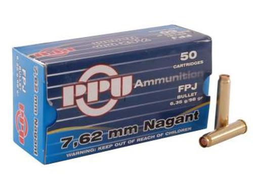 Prvi PPU 7.62 Nagant Ammunition PPR71 98 Grain Full Metal Jacket Flat Point Case of 500 Rounds