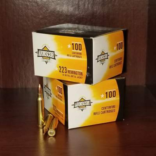 Armscor 223 Rem Ammunition ARM50447 55 Grain Full Metal Jacket Case of 1200 Rounds