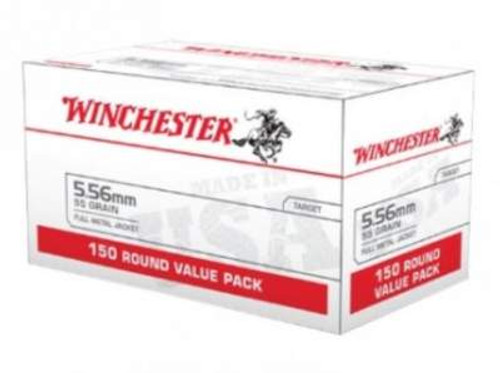Winchester 5.56mm Ammunition Value Pack USA556L1 55 Grain Full Metal Jacket Case of 600 Rounds