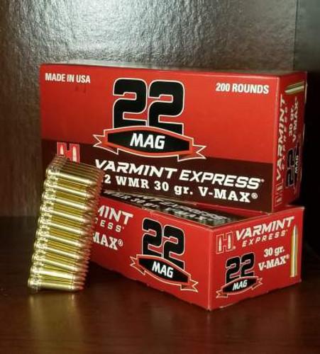 Hornady 22 WMR Ammunition 832022 30 Grain V-Max 200 Rounds