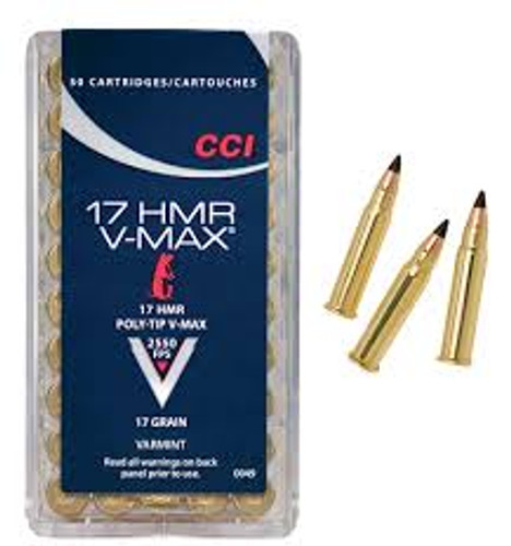 CCI 17 HMR Ammunition 0049 17 Grain V-Max Brick of 500 Rounds