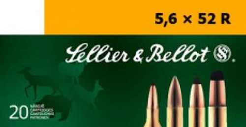 Sellier & Bellot 5.6x52R Ammunition SB5652RB 70 Grain Full Metal Jacket 20 Rounds