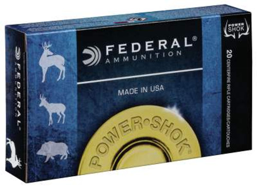 Federal 6.5 Creedmoor Ammunition Power-Shok 65CRDB 140 Grain Jacketed Soft Point 20 Rounds