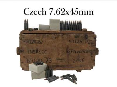 Czech 7.62x45mm Surplus Ammunition AM2958 131 Grain Full Metal Jacket Wooden Crate of 1125 Rounds