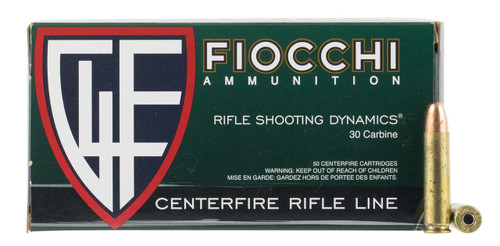 Fiocchi 30 Carbine Ammunition 30M1CA 110 Grain Full Metal Jacket 50 Rounds