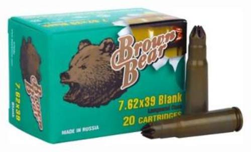 Brown Bear/ BarnauL 7.62x39mm Blank Ammunition A762BLANK 20 Rounds (Blanks)